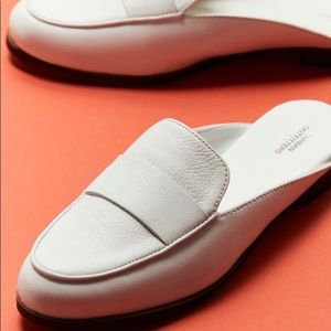 NEW UO Jules white loafer mules